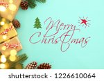 christmas background with pine... | Shutterstock . vector #1226610064