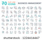 set of line icons of business... | Shutterstock . vector #1226616667