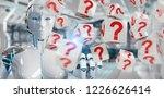 white robot on blurred... | Shutterstock . vector #1226626414