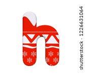 christmas letter h   small 3d... | Shutterstock . vector #1226631064