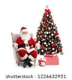 surprised santa claus sitting... | Shutterstock . vector #1226632951