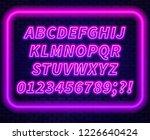 pink purple gradient neon... | Shutterstock .eps vector #1226640424