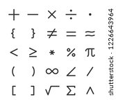 Math Symbols  Icon Set....