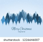 landscape with blue snowy pines ... | Shutterstock .eps vector #1226646007
