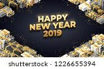 new year 2019 background   Shutterstock .eps vector #1226655394
