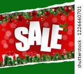 christmas sale banner with... | Shutterstock . vector #1226660701