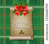 christmas paper scrolls banner | Shutterstock . vector #1226660704