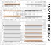 emply wooden shelf set isolated ... | Shutterstock . vector #1226660761