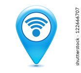 wifi pointer icon on a white... | Shutterstock .eps vector #122666707