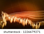 abstract financial trading...   Shutterstock . vector #1226679271
