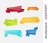 origami ribbon vector set | Shutterstock .eps vector #122670397