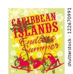 caribbean islands vector art | Shutterstock .eps vector #122670991