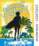 caribbean islands vector art | Shutterstock .eps vector #122671015