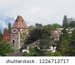 stony tower and housing estate... | Shutterstock . vector #1226713717