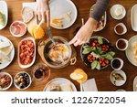 turkish breakfast  orange juice ...   Shutterstock . vector #1226722054