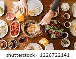 turkish breakfast  orange juice ...   Shutterstock . vector #1226722141