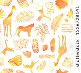 tropical seamless pattern....   Shutterstock . vector #1226728141
