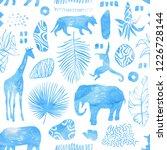 tropical seamless pattern....   Shutterstock . vector #1226728144
