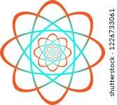 atomic reaction art   Shutterstock .eps vector #1226733061