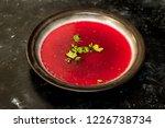 red beetroot soup   borscht | Shutterstock . vector #1226738734