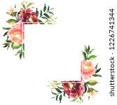 hand drawn watercolor bouquet... | Shutterstock . vector #1226741344