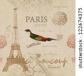paris seamless pattern | Shutterstock . vector #122674375