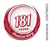 181 years anniversary.... | Shutterstock .eps vector #1226746021