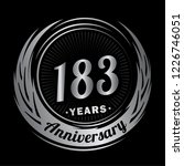 183 years anniversary.... | Shutterstock .eps vector #1226746051