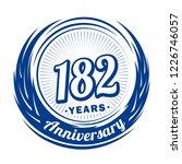 182 years anniversary.... | Shutterstock .eps vector #1226746057