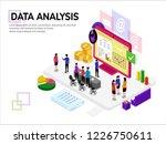 isometric data analysis with... | Shutterstock .eps vector #1226750611