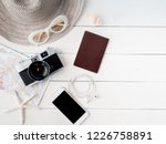 top view travel concept with... | Shutterstock . vector #1226758891
