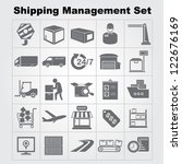 shipping management icon set ... | Shutterstock .eps vector #122676169