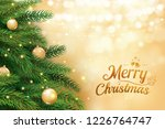 christmas tree with gold blur... | Shutterstock .eps vector #1226764747