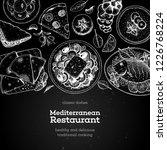 mediterranean cuisine top view. ... | Shutterstock .eps vector #1226768224
