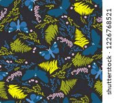 seamless pattern with moths ... | Shutterstock .eps vector #1226768521