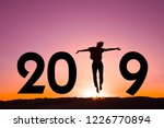 2019  silhouette of a woman... | Shutterstock . vector #1226770894