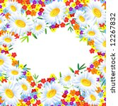 the frame flower. square.... | Shutterstock .eps vector #12267832