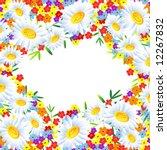the frame flower. square....   Shutterstock .eps vector #12267832