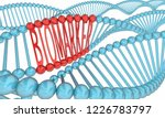 biomarker dna strand medical... | Shutterstock . vector #1226783797