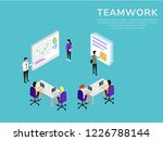 teamwork concept. it can use... | Shutterstock .eps vector #1226788144
