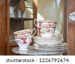 vintage teacups. a set of... | Shutterstock . vector #1226792674