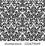 black seamless pattern  vector... | Shutterstock .eps vector #122679649