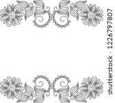 floral frame. vector... | Shutterstock .eps vector #1226797807