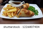 a yorkshire pudding wrapped up...   Shutterstock . vector #1226807404