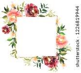 hand drawn watercolor bouquet... | Shutterstock . vector #1226819944