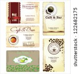 business cards for cafe and... | Shutterstock .eps vector #122682175
