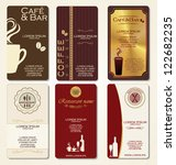 business cards for cafe and... | Shutterstock .eps vector #122682235