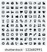 vector black 100 web icons set... | Shutterstock .eps vector #122682991