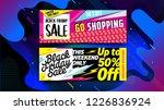 black friday sale banner ... | Shutterstock .eps vector #1226836924
