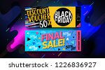 black friday sale banner ... | Shutterstock .eps vector #1226836927